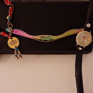 Selling  as a set Betsey Johnson watch/wristlet